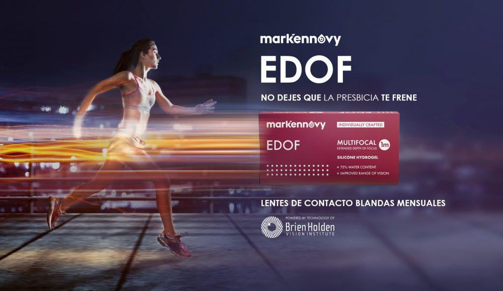 EDOF de Mark'Ennovy es la nueva lente de contacto mensual multifocal con patente de Brien Holden, lo más avanzado en tecnología multifocal.