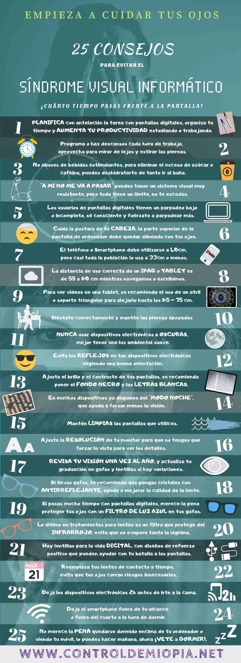 25 consejos para evitar el síndrome visual informático (SVI) 1