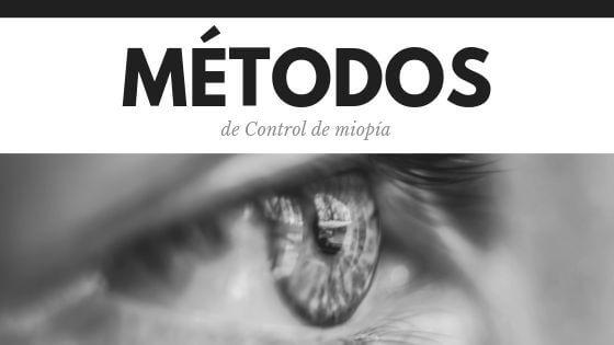 méotdos de control de miopía